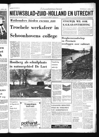 Schoonhovensche Courant 1975-04-09