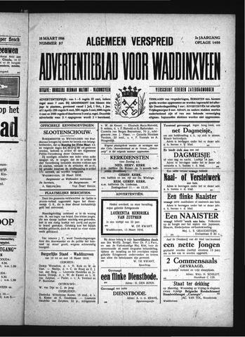Advertentieblad Waddinxveen 1916-03-18