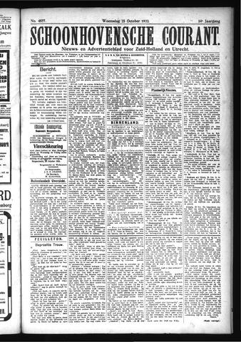 Schoonhovensche Courant 1922-10-25