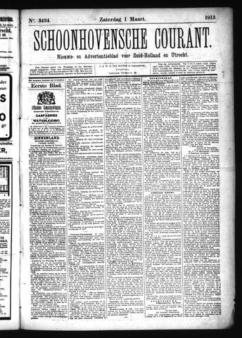 Schoonhovensche Courant 1913-03-01