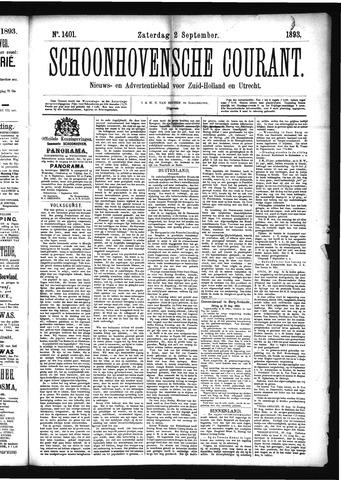 Schoonhovensche Courant 1893-09-02