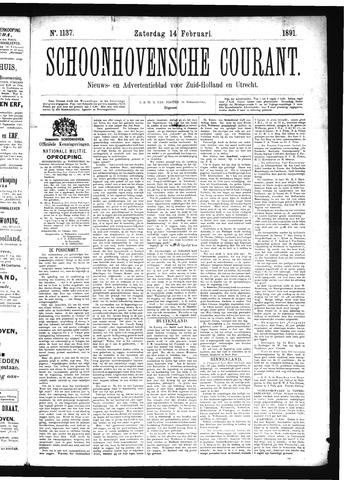 Schoonhovensche Courant 1891-02-14