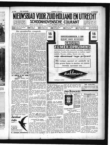 Schoonhovensche Courant 1937-07-14