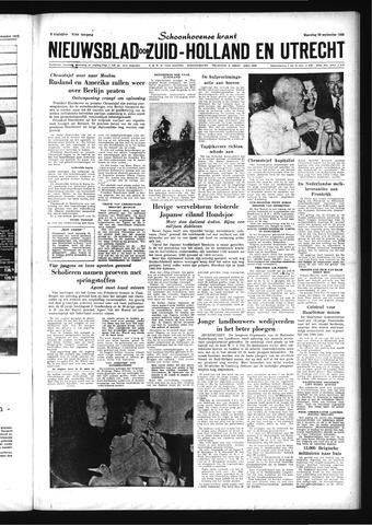 Schoonhovensche Courant 1959-09-28