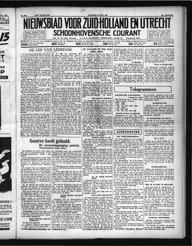Schoonhovensche Courant 1936-04-20