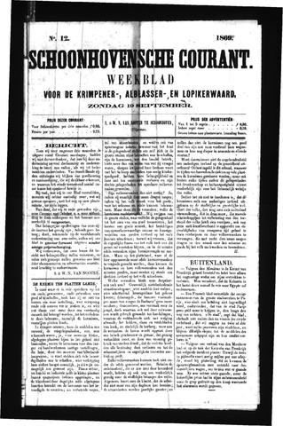 Schoonhovensche Courant 1869-09-19
