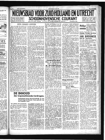 Schoonhovensche Courant 1940-06-26