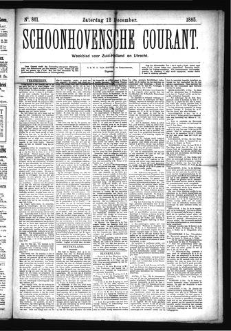 Schoonhovensche Courant 1885-12-12