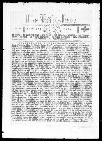 De Vrije Pers 1944-12-11