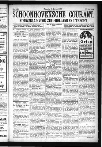 Schoonhovensche Courant 1927-01-31
