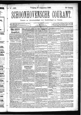 Schoonhovensche Courant 1920-08-27