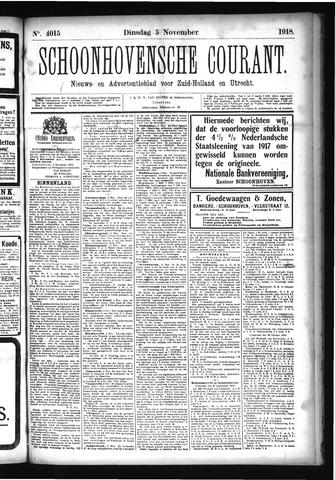 Schoonhovensche Courant 1918-11-05