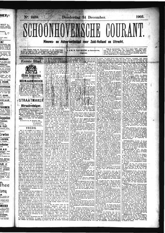 Schoonhovensche Courant 1903-12-24