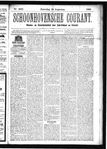 Schoonhovensche Courant 1900-08-18