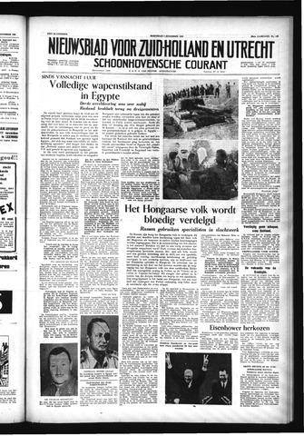 Schoonhovensche Courant 1956-11-07