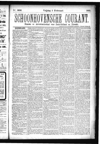Schoonhovensche Courant 1915-02-05