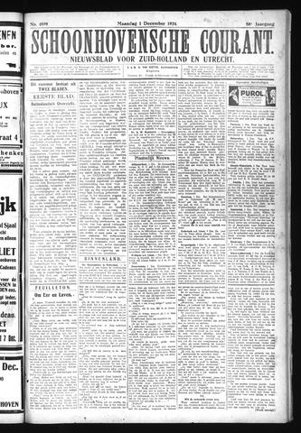 Schoonhovensche Courant 1924-12-01