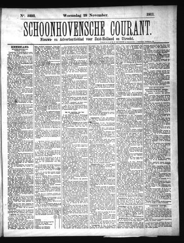 Schoonhovensche Courant 1911-11-29