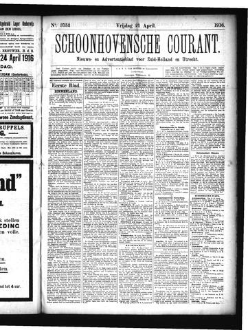 Schoonhovensche Courant 1916-04-21