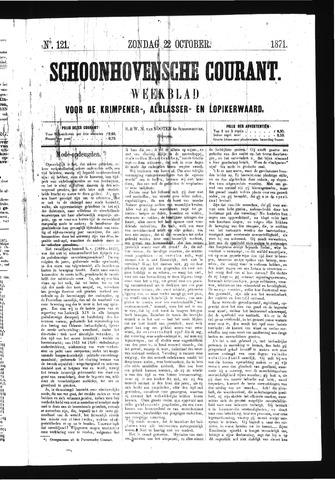 Schoonhovensche Courant 1871-10-22