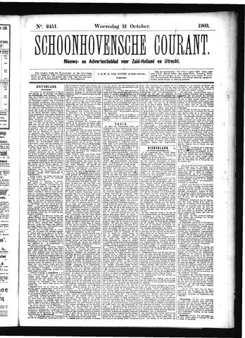 Schoonhovensche Courant 1903-10-21