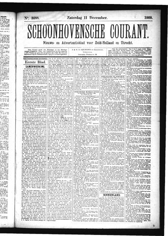 Schoonhovensche Courant 1909-12-11