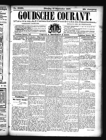 Goudsche Courant 1917-09-11
