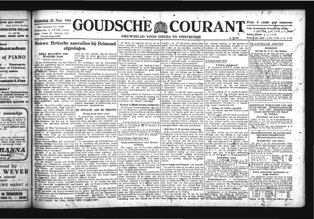 Goudsche Courant 1944-11-22