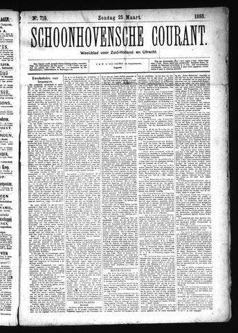 Schoonhovensche Courant 1883-03-25
