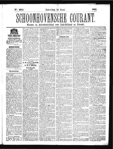 Schoonhovensche Courant 1905-06-24