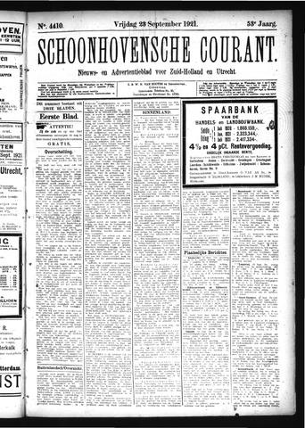 Schoonhovensche Courant 1921-09-23