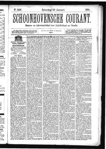 Schoonhovensche Courant 1894-01-20
