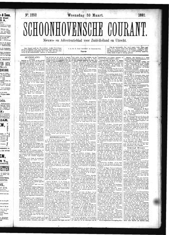 Schoonhovensche Courant 1892-03-30