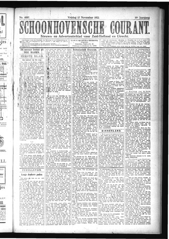 Schoonhovensche Courant 1922-11-17
