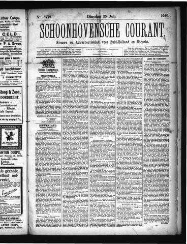 Schoonhovensche Courant 1916-07-25