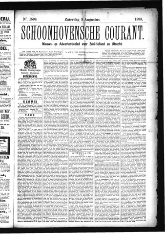 Schoonhovensche Courant 1895-08-03