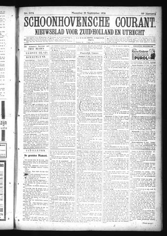 Schoonhovensche Courant 1926-09-20