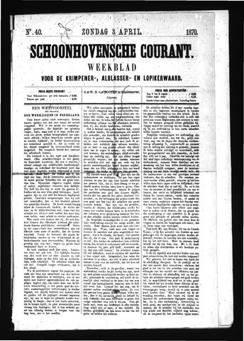 Schoonhovensche Courant 1870-04-03