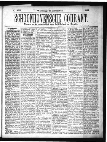 Schoonhovensche Courant 1911-11-15