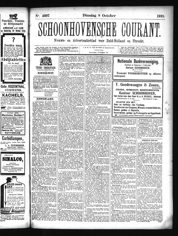 Schoonhovensche Courant 1918-10-08