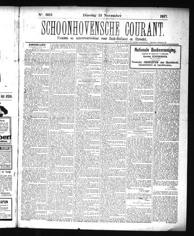 Schoonhovensche Courant 1917-11-13
