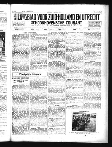 Schoonhovensche Courant 1934-08-08