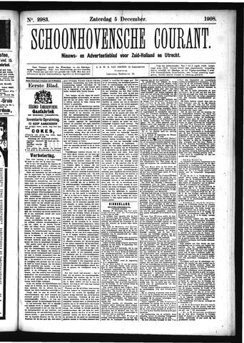 Schoonhovensche Courant 1908-12-05