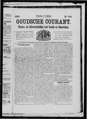 Goudsche Courant 1869-09-22