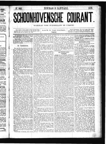 Schoonhovensche Courant 1876-01-09