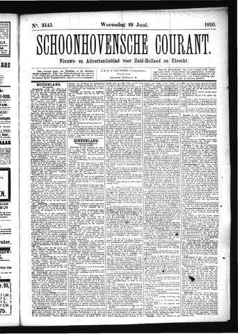 Schoonhovensche Courant 1910-06-29