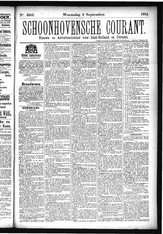 Schoonhovensche Courant 1914-09-02