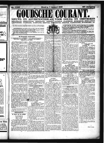 Goudsche Courant 1930-01-07