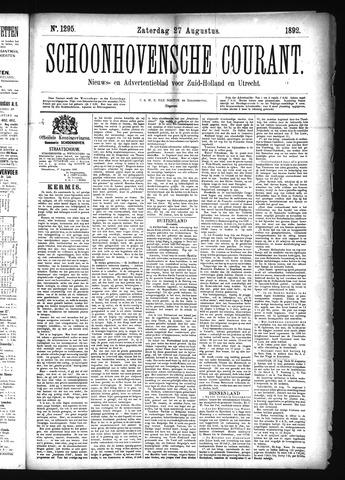 Schoonhovensche Courant 1892-08-27