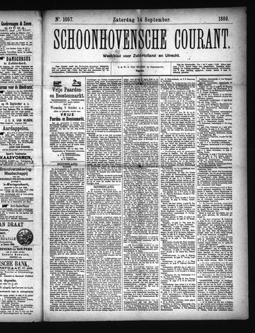 Schoonhovensche Courant 1889-09-14